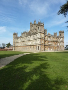Highclere Castle in the sun shine.