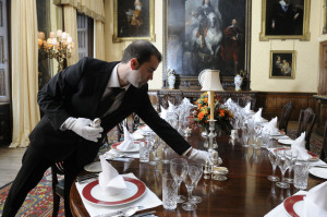 Luis Highclere Castle Banqueting Manager Setting the Table